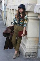 silk Hermes shirt - Topshop pants - vintage Hermes belt - Forever 21 wedges - vi