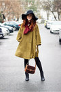Black-floppy-h-m-hat-olive-green-vintage-cape