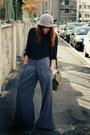 Mango-pants-random-brand-shirt-vintage-bag-vintage-hat