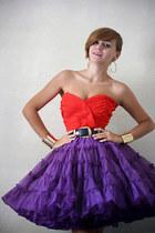 violet vintage skirt