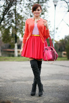 red River Island skirt - hot pink suede OASAP bag