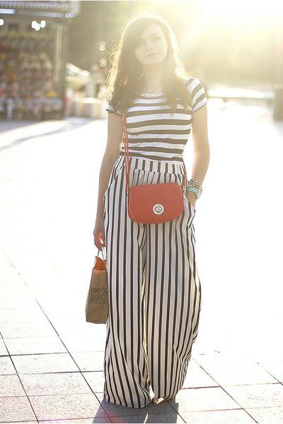 white striped Zara pants