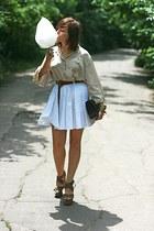 leopard print River Island shoes - white River Island skirt - off white vintage