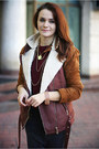 Brick-red-leather-zara-boots-crimson-bershka-vest