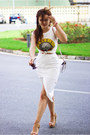 White-river-island-skirt-white-primark-t-shirt-tawny-stradivarius-sandals
