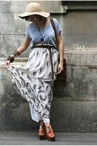 burnt orange Jessica Simpson shoes - white sheer River Island skirt - vintage ac