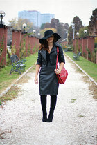 black over the knee new look boots - black floppy H&M hat