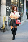 Black-over-the-knee-new-look-boots-brick-red-zara-bag