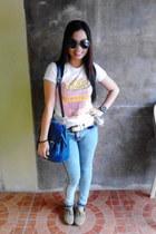 von dutch jeans - artwork shirt - Tru by Natasha bag - rayban sunglasses