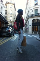 nike shoes - H&M sweater - hippy market bag - Pimkie pants - Zara vest