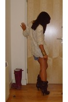 brown karen millen boots - Levis shorts