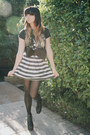black vintage from Ebay shirt - black H&M belt - black Forever 21 skirt - Jeffer