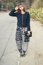 Topshop sweater - Sole Society shoes - penelopes vintage sunglasses