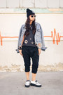 Creepers-tuk-shoes-yin-yang-penelopes-vintage-hat-jean-levis-jacket