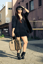 vintage jacket - ankle boots Dolcetta boots - brandy melville dress