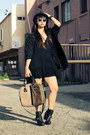 Ankle-boots-dolcetta-boots-brandy-melville-dress-vintage-jacket