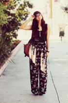 vintage belt - Urban Outfitters bag - Sole Society heels - palazzo vintage pants
