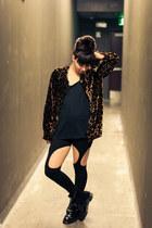 Dr Martens boots - evil twin leggings - leopard velvet vintage top