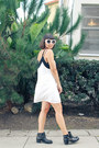Boots-luluscom-shoes-ivory-luluscom-dress-chanel-sunglasses