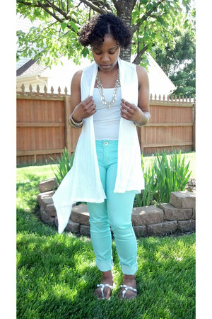 Papaya clothing cardigan - mint Charlotte Russe jeans
