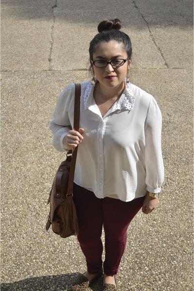 0901675c574d Forever 21 blouse - camel Forever 21 bag - cheetah print Forever 21 loafers