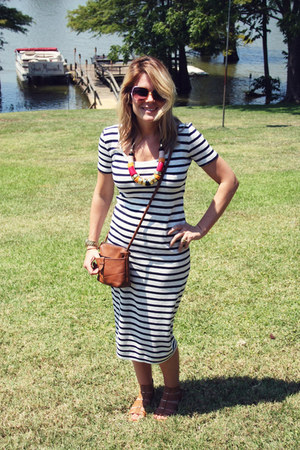 Vince Camuto shoes - nautical stripe French Connection dress - H & M necklace