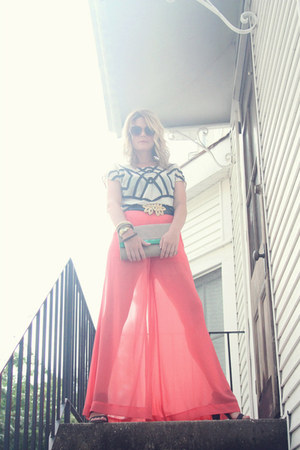 sheer pink haus 131 pants - Vince Camuto shoes - H&M bag