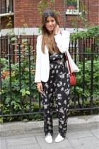 jumpsuit Primark romper - Zara blazer - vintage bag - Kurt Geiger flats
