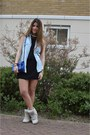 Black-ermarolla-dress-blue-zara-bag-beige-isabel-marant-sneakers