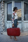 White-floral-ermarolla-shirt-red-ermarolla-bag-nude-topshop-pumps