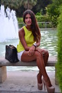 Yellow-peplum-primark-top-black-chanel-bag-white-zara-shorts