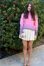 Bubble-gum-asos-sweater-ivory-bottega-veneta-bag-cream-topshop-pumps