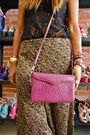 Magenta-flashback-purse-burnt-orange-flashback-pants