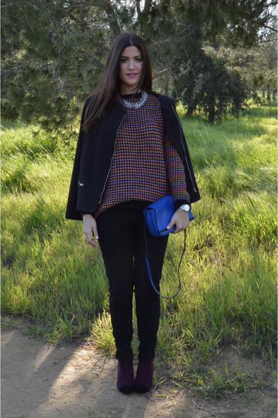 Topshop jumper - Topshop jacket - Zara bag - Zara pants - Primark heels