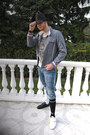 Black-lacoste-shoes-blue-pepe-jeans-jeans-gray-vintage-hat