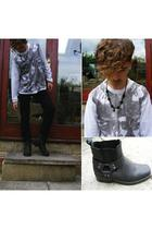 unknown top - H&M pants - vintage boots - vintage necklace