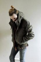 dark khaki parka anorak H&M jacket