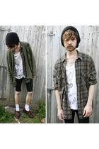 green vtg lumberjack shirt