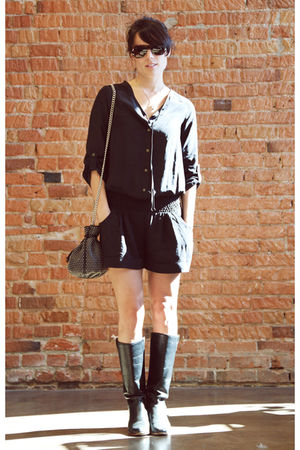 Myne blouse - Rebecca Minkoff purse - vintage boots - David Yurman necklace