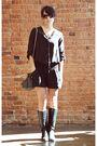 Myne-blouse-rebecca-minkoff-purse-vintage-boots-david-yurman-necklace