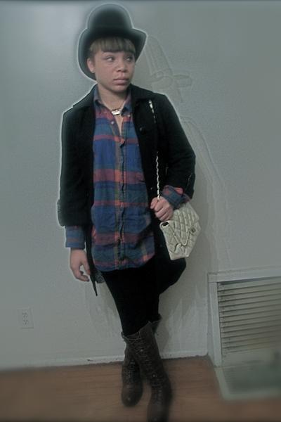 shirt - purse - boots