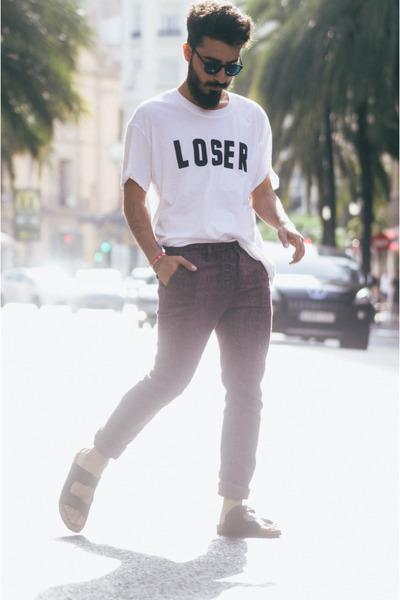 Bershka t-shirt - snake print asos jeans - pull&bear sandals