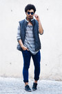 Denim-bershka-jeans-h-m-divided-shirt-luke-1977-vest-nike-sneakers