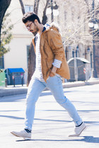 oxfords Zara shoes - blue Pull & Bear jeans - brown asos jacket
