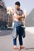 denim H&M jeans - oxfords asos shoes - denim jacket vintage jacket