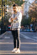 denim jacket Bershka jacket - oxfords Zara shoes - skinny jeans H&M jeans