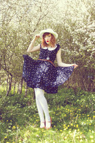white Chicwish dress - navy AX Paris dress