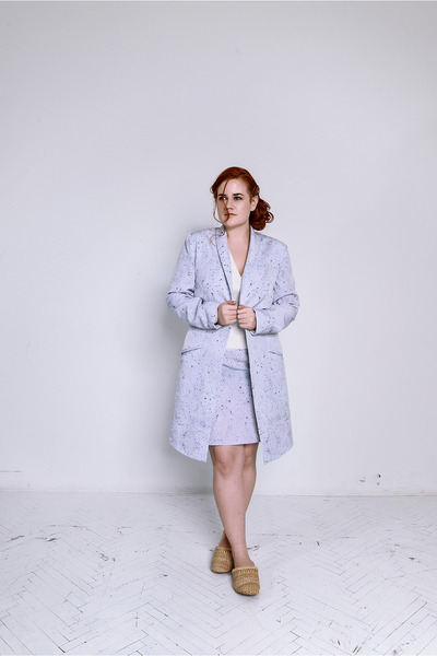 silver Beango dress - silver Beango coat