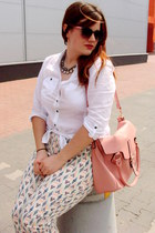 white Orsay shirt - light pink Orsay bag - light pink Orsay sunglasses