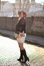 Brown-benvenuti-boots-ivory-knitted-h-m-dress-camel-h-m-hat